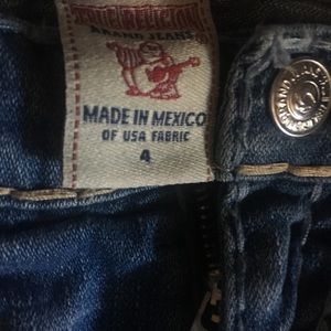 True Religion Bottoms - Girls size 4 true religion jeans